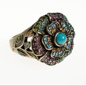 Heidi Daus Swarovski Crystal Ring 9.5